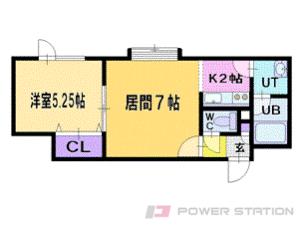 札幌市清田区里塚1条2丁目0賃貸アパート間取図面