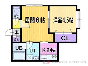 札幌市清田区美しが丘3条3丁目0賃貸アパート間取図面