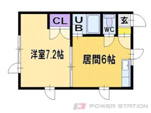 札幌市清田区里塚2条4丁目0賃貸アパート間取図面
