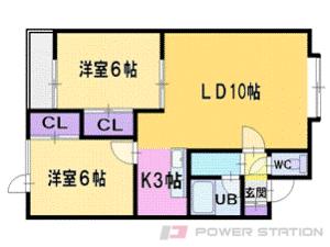 札幌市清田区里塚2条5丁目0賃貸アパート間取図面