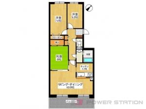 札幌市清田区美しが丘3条5丁目0分譲リースマンション間取図面