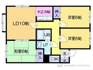 札幌市清田区美しが丘1条8丁目0賃貸アパート間取図面