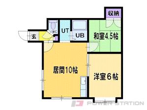 札幌市清田区美しが丘3条7丁目0賃貸アパート間取図面