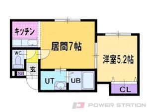 札幌市清田区美しが丘2条8丁目0賃貸アパート間取図面