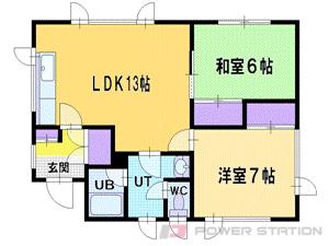 札幌市清田区美しが丘4条7丁目0賃貸アパート間取図面