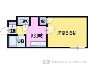 札幌市清田区北野7条3丁目0分譲リースマンション間取図面