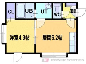 札幌市清田区北野7条4丁目0賃貸アパート間取図面