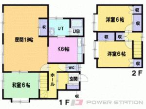 札幌市清田区平岡10条1丁目0一戸建貸家間取図面