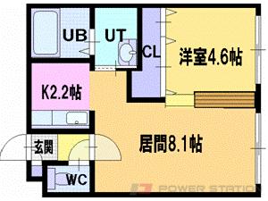 札幌市清田区清田3条1丁目0賃貸マンション間取図面