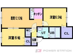 札幌市清田区里塚3条3丁目0賃貸アパート間取図面