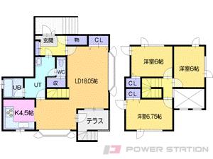札幌市清田区北野5条3丁目0一戸建貸家間取図面