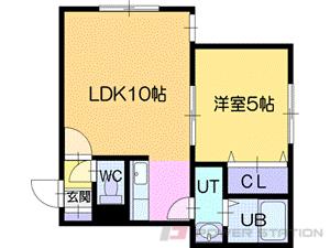 札幌市清田区平岡1条2丁目0賃貸アパート間取図面