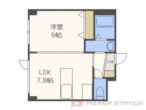 札幌市清田区平岡3条6丁目0賃貸マンション間取図面
