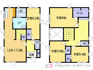 札幌市清田区清田10条3丁目0一戸建貸家間取図面