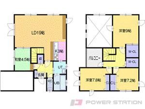 札幌市清田区平岡公園東1丁目1一戸建貸家間取図面