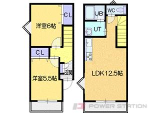 札幌市清田区平岡2条4丁目0テラスハウス間取図面