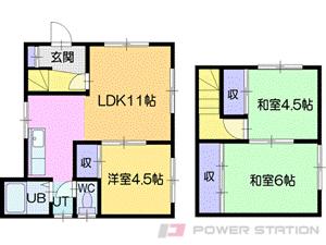 札幌市清田区清田7条4丁目0一戸建貸家間取図面