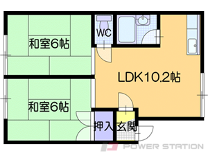 札幌市清田区北野6条1丁目0賃貸アパート間取図面