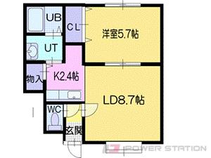 札幌市清田区里塚緑ヶ丘3丁目0賃貸アパート間取図面