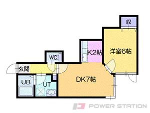 札幌市清田区北野2条2丁目01賃貸アパート間取図面