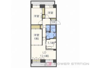 札幌市清田区美しが丘3条6丁目0分譲リースマンション間取図面