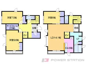 札幌市清田区平岡公園東1丁目0一戸建貸家間取図面