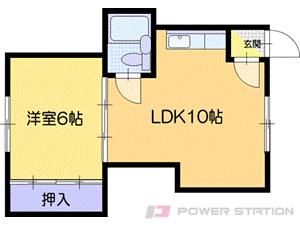 札幌市清田区平岡3条1丁目0賃貸アパート間取図面