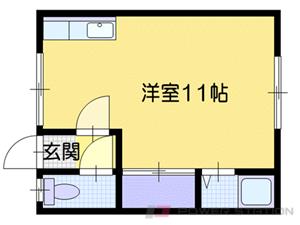 札幌市清田区美しが丘1条8丁目1賃貸アパート間取図面