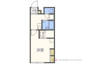 札幌市清田区平岡3条6丁目0賃貸アパート間取図面