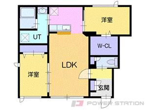 札幌市清田区里塚緑ヶ丘5丁目0テラスハウス間取図面