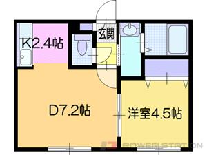 札幌市清田区平岡3条3丁目0賃貸アパート間取図面