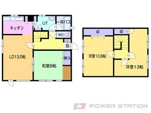 札幌市清田区美しが丘2条2丁目0一戸建貸家間取図面