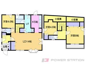 札幌市清田区平岡9条1丁目1一戸建貸家間取図面