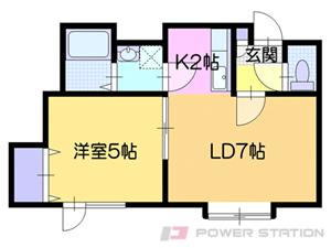 札幌市清田区清田2条1丁目0賃貸アパート間取図面