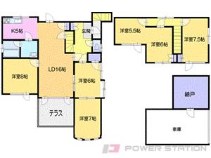 札幌市清田区北野6条2丁目0一戸建貸家間取図面