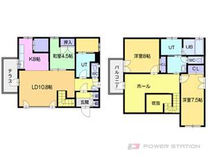 札幌市清田区清田7条1丁目0一戸建貸家間取図面