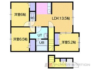 新札幌3LDKアパート図面