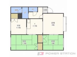 札幌市清田区平岡5条1丁目1賃貸アパート間取図面