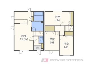 札幌市清田区北野6条1丁目0テラスハウス間取図面