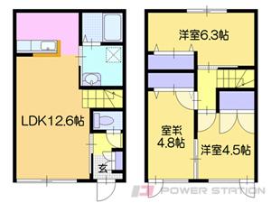 札幌市清田区里塚緑ヶ丘9丁目0テラスハウス間取図面