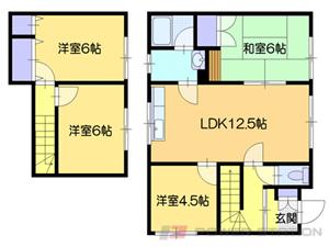 札幌市清田区里塚緑ヶ丘11丁目0一戸建貸家間取図面