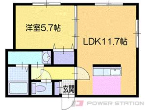 札幌市清田区里塚緑ヶ丘9丁目0賃貸アパート間取図面