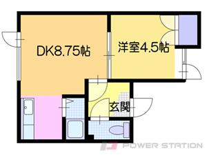 札幌市清田区里塚緑ケ丘7丁目0賃貸アパート間取図面