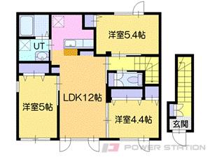 札幌市清田区平岡4条2丁目0賃貸アパート間取図面