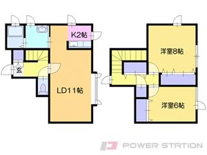 札幌市清田区里塚3条1丁目0テラスハウス間取図面
