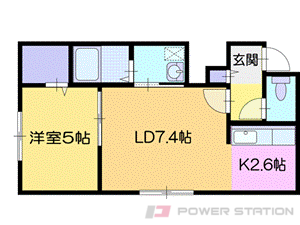 札幌市清田区清田2条2丁目0賃貸アパート間取図面