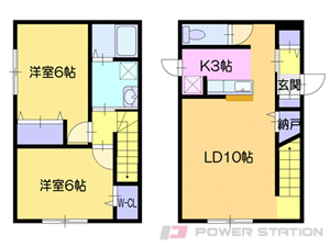 札幌市清田区清田3条2丁目01賃貸アパート間取図面