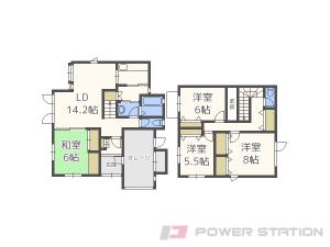 札幌市清田区真栄4条2丁目0一戸建貸家間取図面