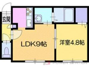札幌市清田区美しが丘2条8丁目01賃貸アパート間取図面