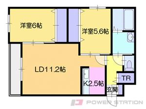 札幌市清田区清田2条1丁目01賃貸マンション間取図面
